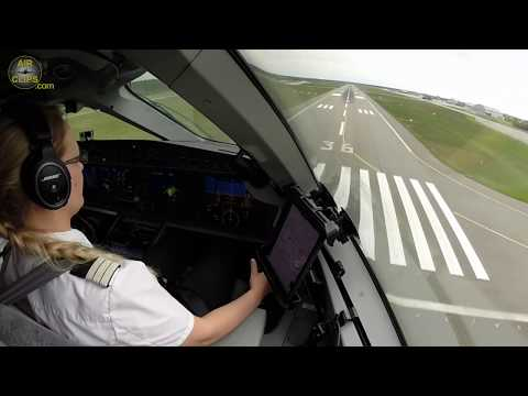 Liina's PERFECT Airbus A220-300  (former CS300) Landing in Riga!!! [AirClips]