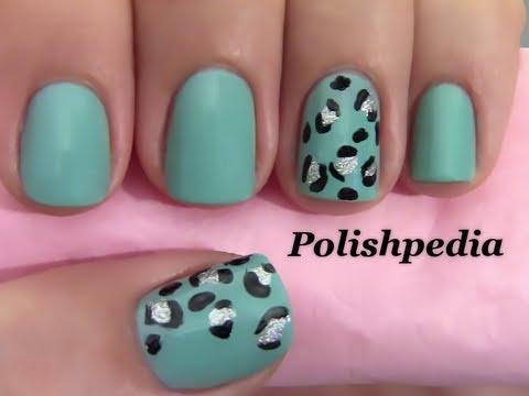 Teal Cheetah Print Nails Youtube