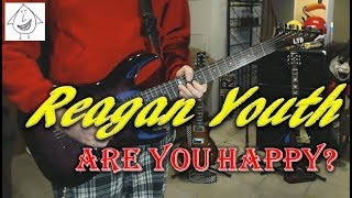 Reagan Youth - Are You Happy ? - Guitar Cover (Tab in description!)