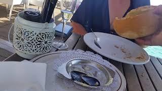 Ресторан в Бонэйре на воде Zeezicht кормежка рыб шоколатье
