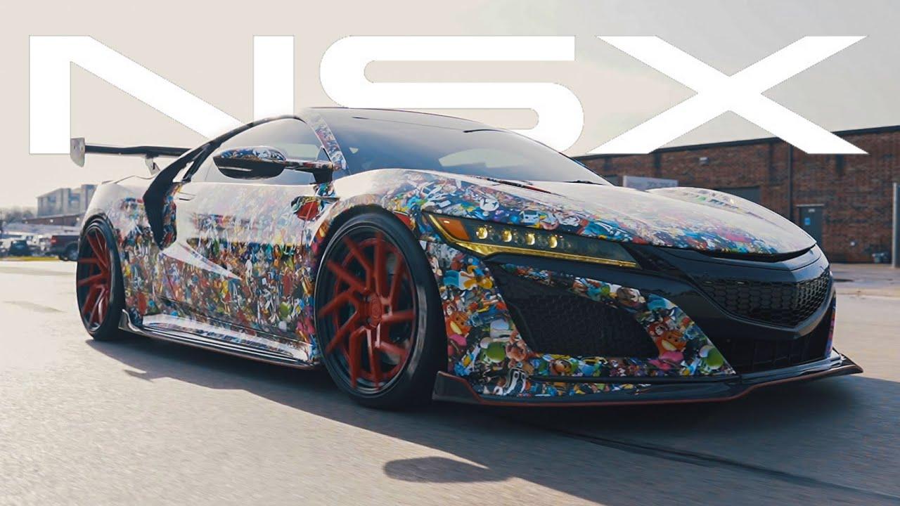 Craziest Custom Vinyl Wrap On Acura NSX