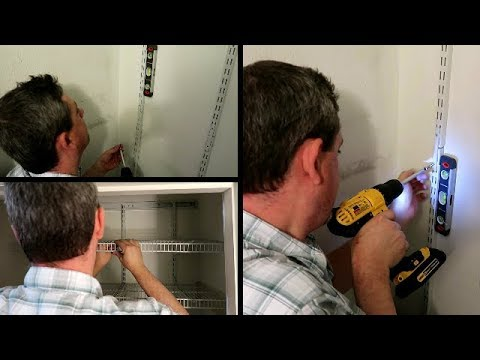 Hubby Installs New Pantry Shelf!! Closet Maid 2845 Pantry Organizer