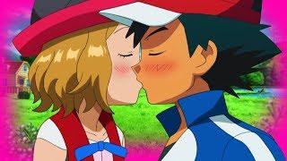 ASH X SERENA KISS - AMOURSHIPPING ❤️💚💙  「POKEMON XY AMV」 | YouYou PiKaChU