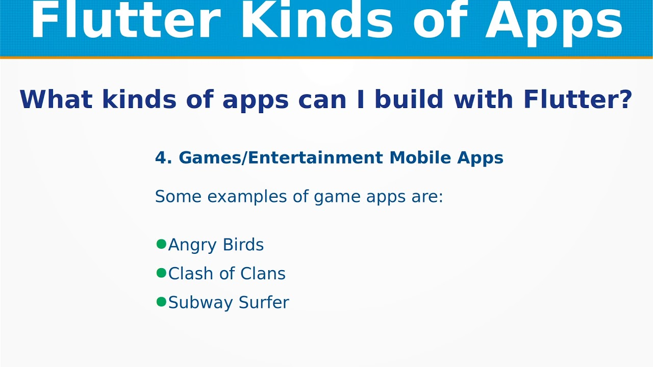 What kinds of apps can I build with Flutter ? |  Mobile(Android,iOS),Web,Desktop,Embedded
