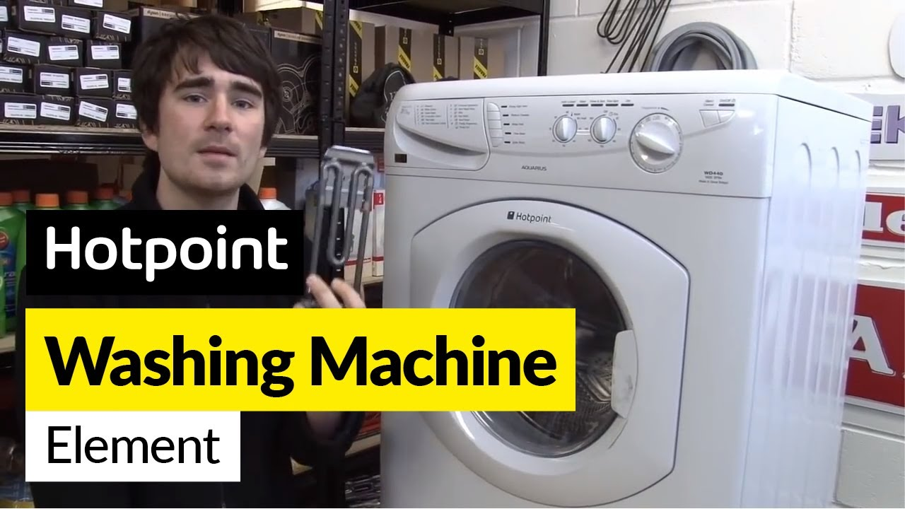 how to replace a washing machine element on a hotpoint washer