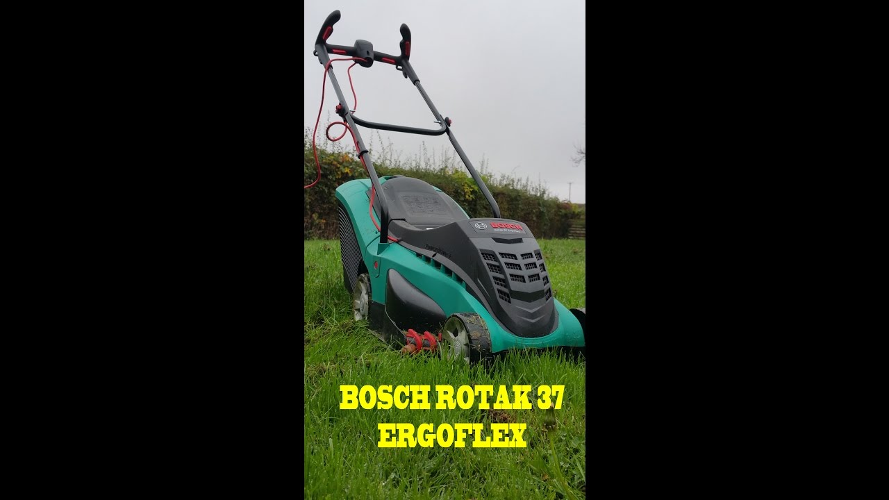bosch rotak 37 ergoflex electric rotary lawnmower a short review youtube. Black Bedroom Furniture Sets. Home Design Ideas