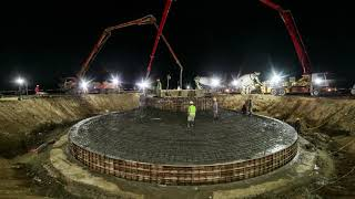 How wind turbines are installed?? 50MW Wind Farm Installation - OES Zephyr    Timelapse   