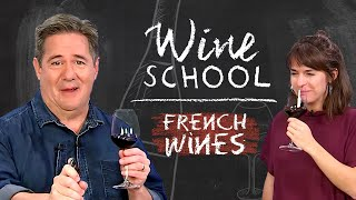 Wine Expert Teaches Wine Idiot about French Wine | Wine School video thumbnail