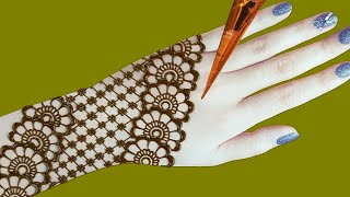 Arabic bridal mehndi designs for back hands - latest easy mehndi design 2020
