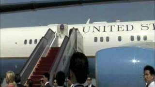 Behind the Scenes: Secretary Clinton Arrives at Beijing Airport