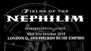 FIELDS OF THE NEPHILIM - full set - London - 31.10.2018