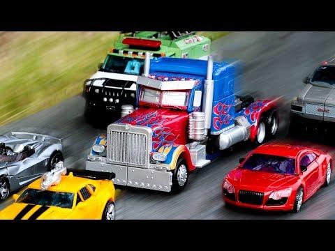 Transformers Movie Optimus Prime Bumblebee Sideswipe Ratchet Ironhide Dino Truck Car Robot Toys