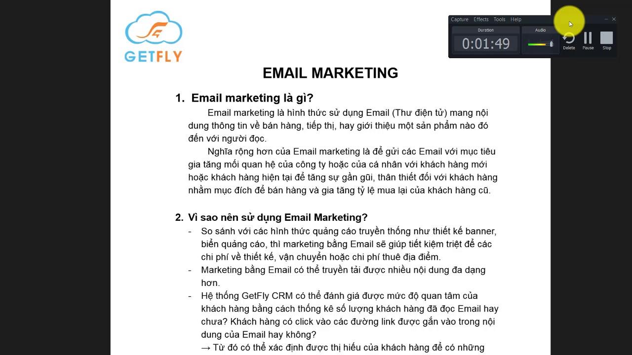 [GetFlyCRM] Email Marketing là gì? Tại sao nên sử dụng Email Marketing?