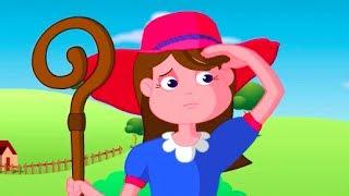 Wenig Bo Peep Hat Verloren Ihre Schafe Kinderlied | Karikatur-Animations-Lieder Für Kinder
