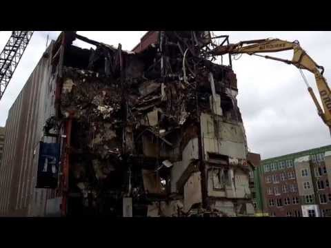 Demolition of the Indianapolis Star building (2015)