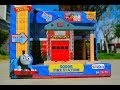 Thomas & Friend SODOR FIRE STATION Wooden Railway Toy Train Review By Mattel