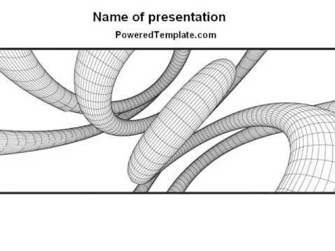 Free 3D Spiral PowerPoint Template by PoweredTemplate.com