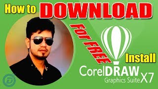 how to download and install corel draw x7 2018 | corel draw x7 free download
