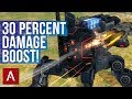 War Robots Raijin With New Weapon Avenger MK2 Gameplay 30 Percent Damage BOOST mp3
