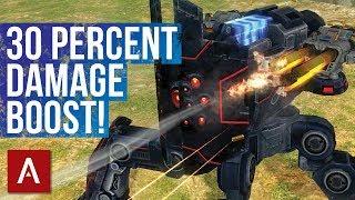 War Robots Raijin with New Weapon Avenger MK2 Gameplay | 30 Percent Damage BOOST