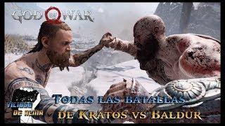 God Of War | Todas las batallas de Kratos Vs Baldur | All Kratos Vs Baldur Fights