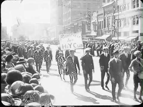 Preston Scott - WATCH! Incredible Film from 1924 of Wichita, Kansas Boys Loyalty Parade