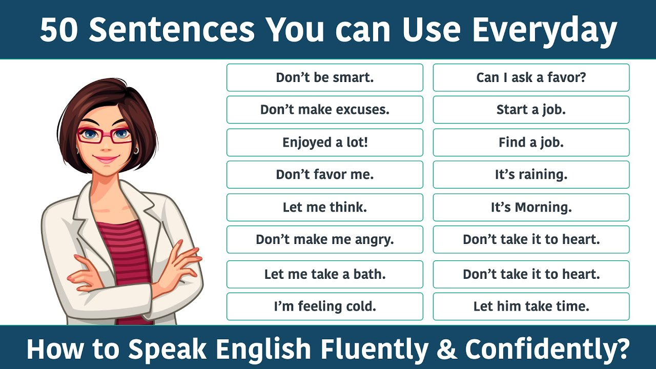 50 Daily Use English Sentences || English Speaking Class for Beginners || Speak English Fluently