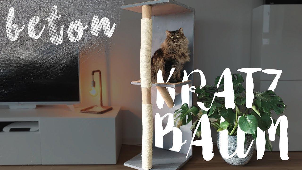 diy stylischer katzen kratzbaum | easy alex - youtube
