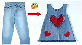 Schnelle Umwandlung alter Jeans in ein stilvolles Babykleid mit aller Einfachheit