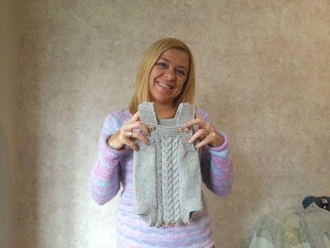 Видео вязание боди спицами