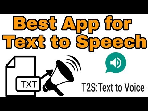 Best App for Text to speech (t2s Real human voice) for android - YouTube
