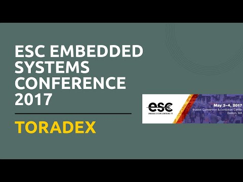 ESC Embedded Systems Conference 2017 - Toradex