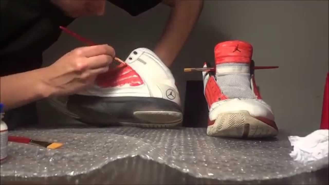 restaurando zapatillas jordan personalizadas  YouTube
