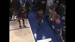 Kyrie Playing Water Bottle Flip Challenge