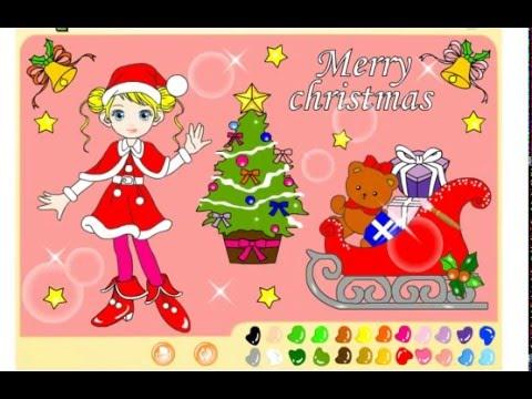 Раскраска: Рождество (Merry Christmas) - YouTube