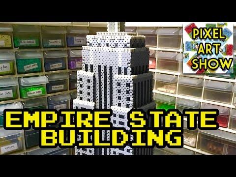 Perler Bead 3D Empire State Building Project - Pixel Art Show
