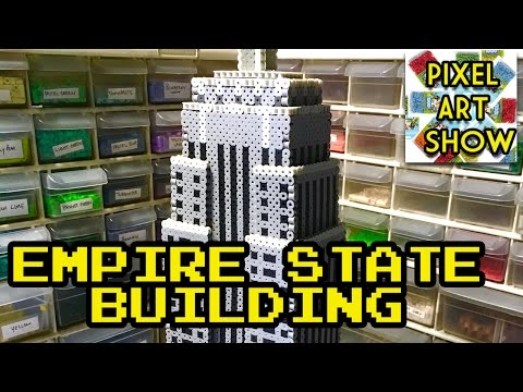 Perler Bead 3D Empire State Building Project - Pixel Art Show