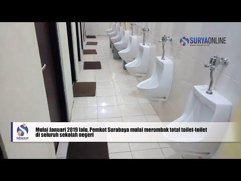 BEGINILAH TOILET SMPN 3 SURABAYA SEPERTI HOTEL  @Liputan Khusus Harian Surya 11 Maret 2019
