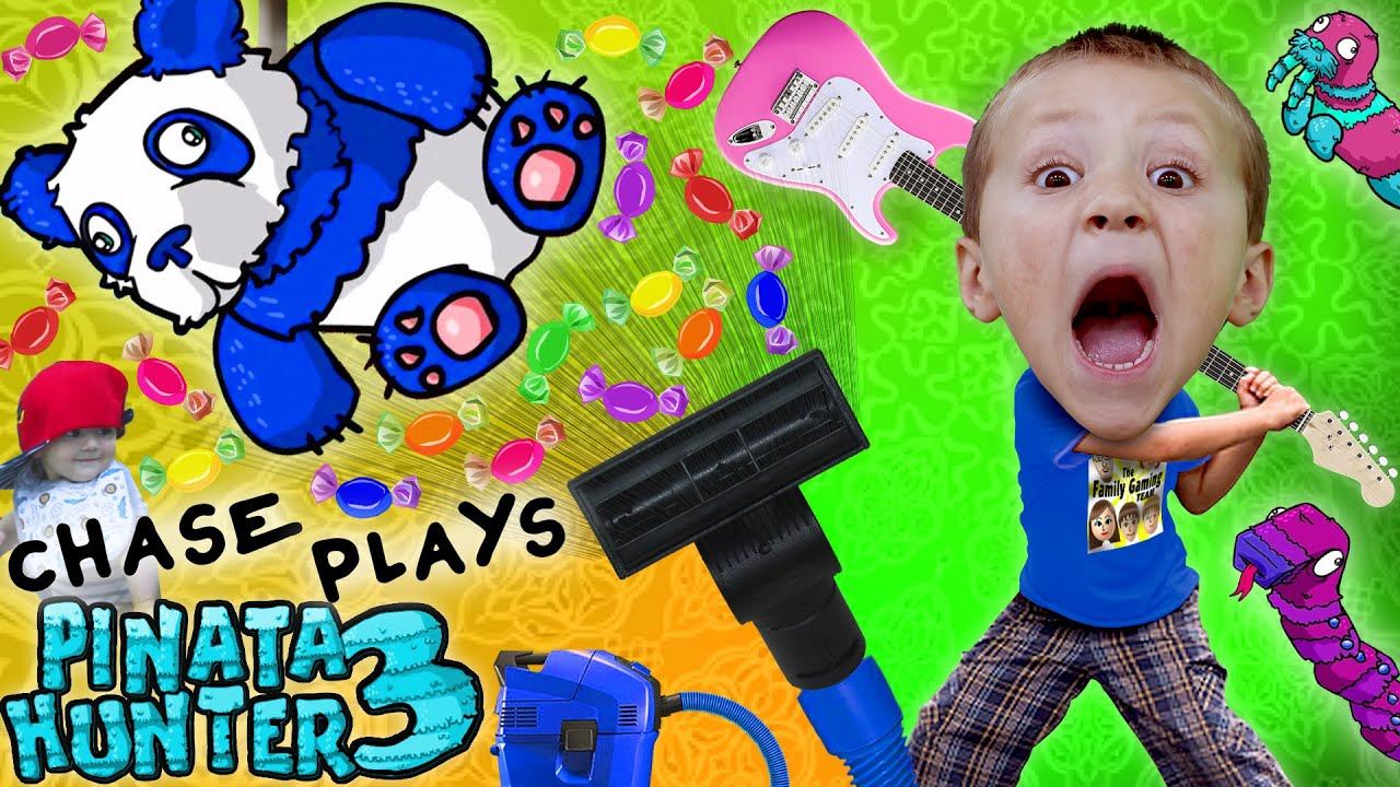 Chase Plays PINATA HUNTER 3!  Candy = Money (FGTEEV Panda Gameplay)