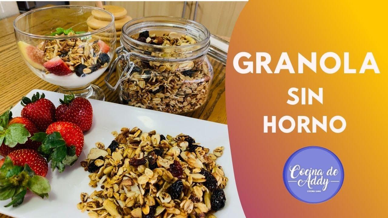 Desayuno Saludable GRANOLA CRUJIENTE hecha en SARTEN. Ahorra $$ haciéndola en casa |Cocina de Addy