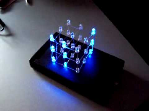 LED Cube 3x3x3  with case and 22 animations  effects