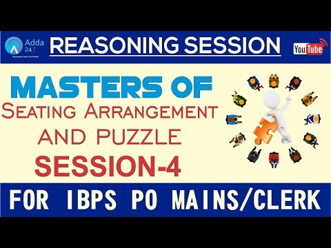 Master Of Seating Arrangement & Puzzle For All Bank Exams | Reasoning | SESSION-4