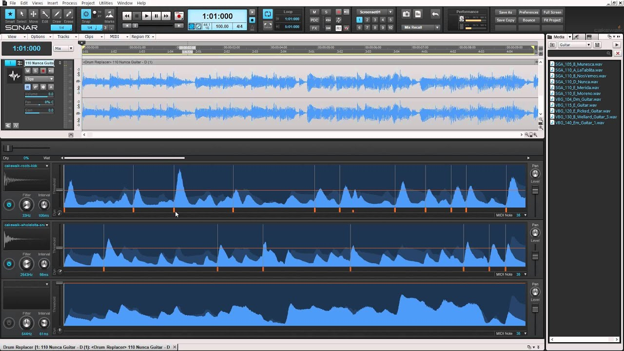 Creating Percussion from a Melody with Drum Replacer - Cakewalk Software