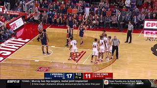 2019.01.29 #3 Virginia Cavaliers at #23 NC State Wolfpack Basketball