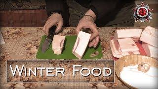 Winter Food | How To Make Lard Or Fat-Back