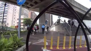 河田站單車徑橋低路口捉單車~
