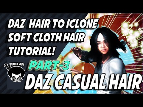 Softcloth Hair tutorail Part 3 Daz Casual Hair!