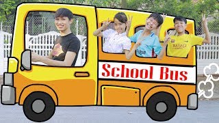 Kids Go To School by Bus Wheel On The Bus   Kids Play And Entertainment Center For Childrens Song