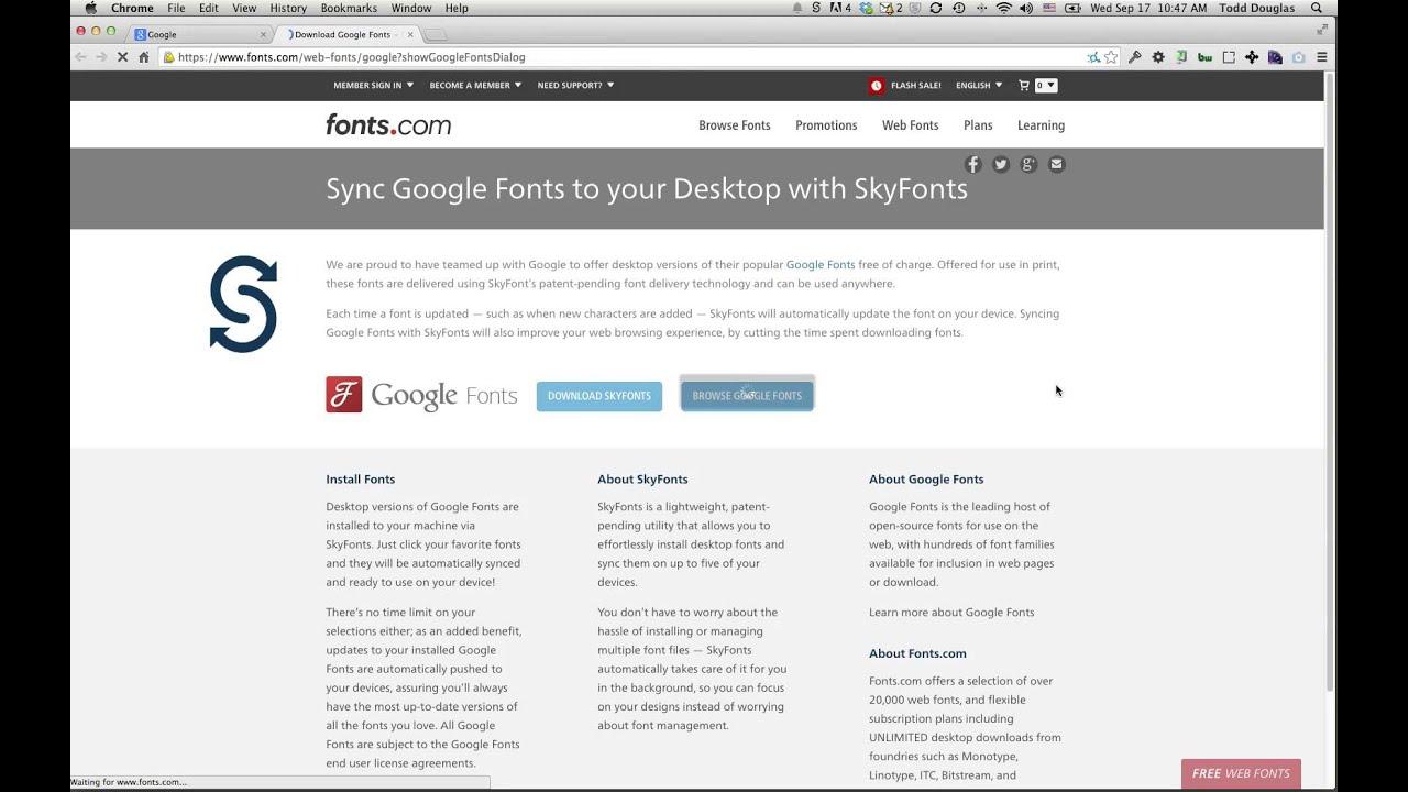 skyfonts google fonts