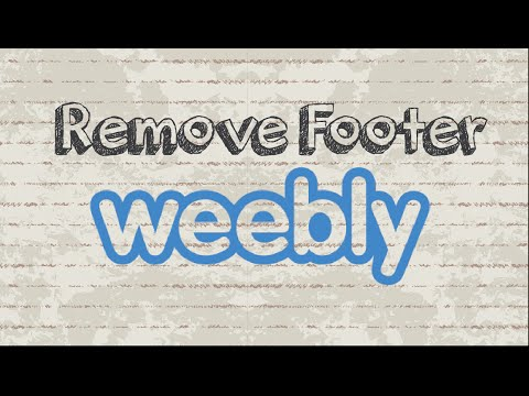 How to remove Weebly footer for free